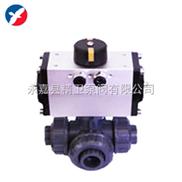 Q614/615S-Q614/615S气动塑料三通球阀