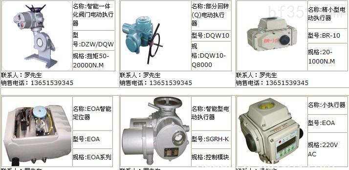 br系列产品属于回转型电动执行机构,s,w,p,a型可通过外接