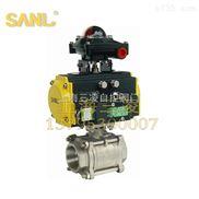 气动三片式内螺纹、焊接球阀、SLQ611F/DN20